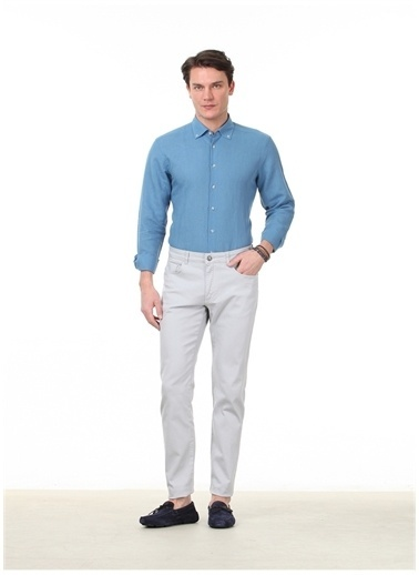 Kip Kip Regular Fit Düz Gri Pantolon Gri